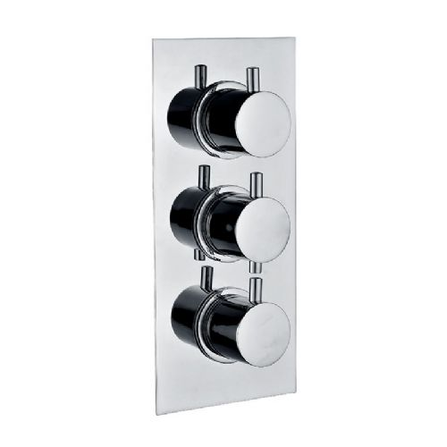 Abacus Emotion Square Thermostatic Single Outlet Shower Mixer Valve - Chrome